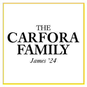 The Carfora Family James '24 Sponsorship Logo